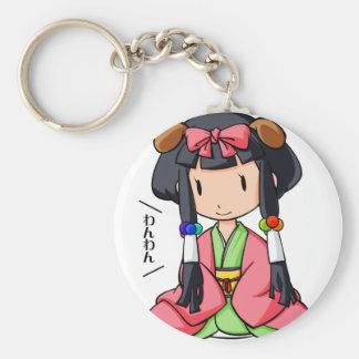 伏 English story Nanso Chiba Yuru-chara Basic Round Button Keychain