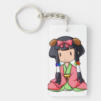 伏 English story Nanso Chiba Yuru-chara Double-Sided Rectangular Acrylic Keychain