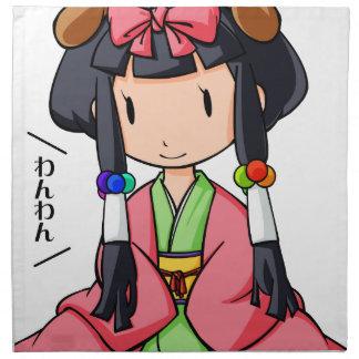 伏 English story Nanso Chiba Yuru-chara Napkin
