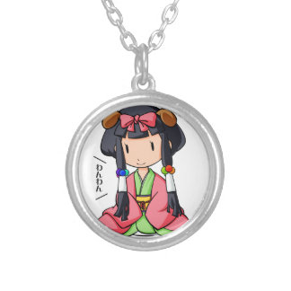 伏 English story Nanso Chiba Yuru-chara Silver Plated Necklace