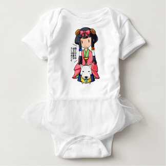 伏 Princess English story Nanso Chiba Yuru-chara Baby Bodysuit