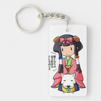 伏 Princess English story Nanso Chiba Yuru-chara Double-Sided Rectangular Acrylic Keychain