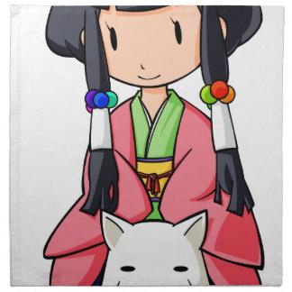 伏 Princess English story Nanso Chiba Yuru-chara Napkin
