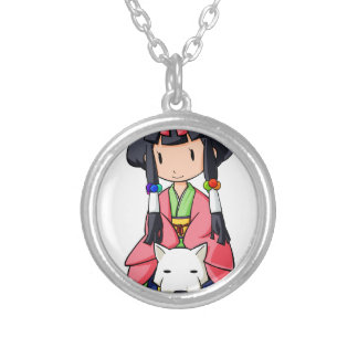 伏 Princess English story Nanso Chiba Yuru-chara Silver Plated Necklace