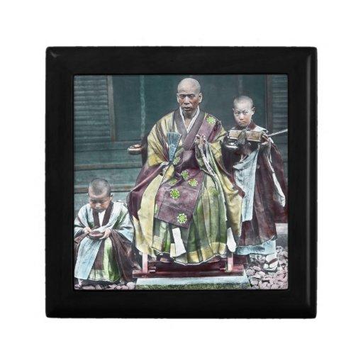 僧 japonais vintage du Japon de moines bouddhistes Boîte À Bijoux