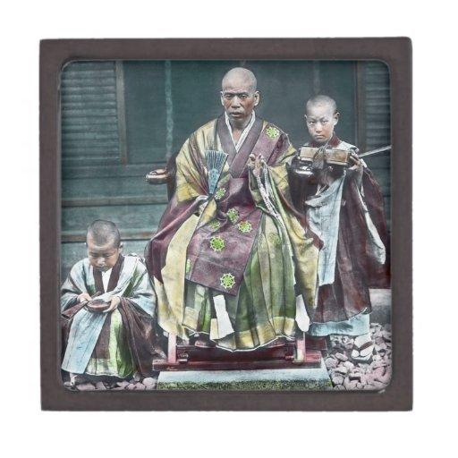 僧 japonais vintage du Japon de moines bouddhistes Boîtes À Babioles De Première Qualité