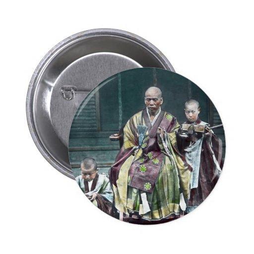 僧 japonais vintage du Japon de moines bouddhistes Pin's Avec Agrafe