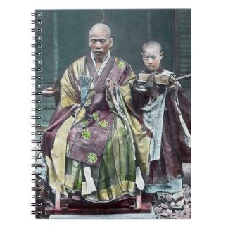 僧 japonais vintage du Japon de moines bouddhistes Carnets