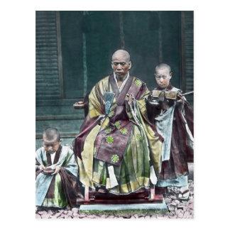 僧 japonais vintage du Japon de moines bouddhistes Cartes Postales