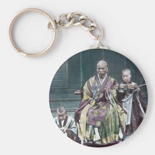 僧 japonais vintage du Japon de moines bouddhistes Porte-clés