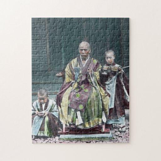 僧 japonais vintage du Japon de moines bouddhistes Puzzles Avec Photo