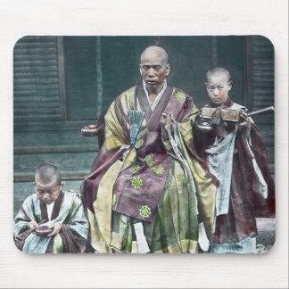 僧 japonais vintage du Japon de moines bouddhistes Tapis De Souris