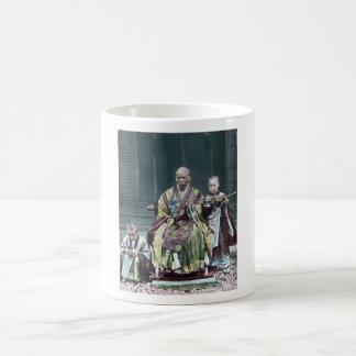 僧 japonais vintage du Japon de moines bouddhistes Tasse À Café