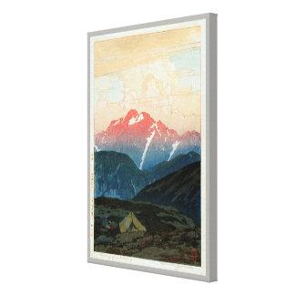 剣山の旭, Mount Tsurugi, Hiroshi Yoshida, Woodcut Canvas Print