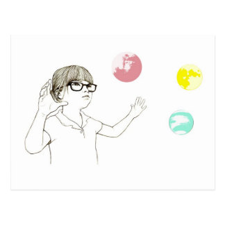 副本 universel de fille cartes postales