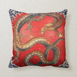 北斎の龍, 北斎 Hokusai Dragon, Hokusai, Japan Art Throw Pillow