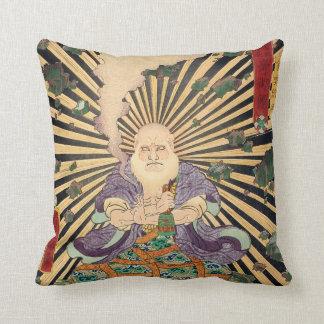 奇術師, 豊国 Magician, Toyokuni, Ukiyo-e Throw Pillow