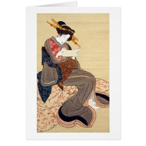 女, 国貞 Woman, Kunisada, Ukiyo-e Cards