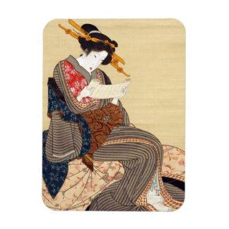 女, 国貞 Woman, Kunisada, Ukiyo-e Magnet