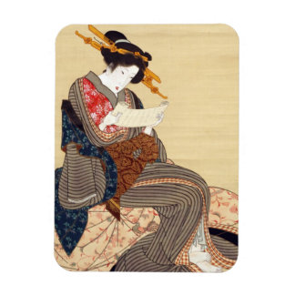 女, 国貞 Woman, Kunisada, Ukiyo-e Rectangular Photo Magnet