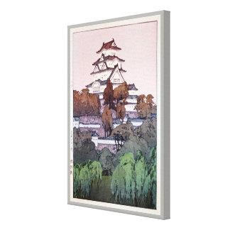 姫路城, Himeji Castle, Hiroshi Yoshida, Woodcut Canvas Print