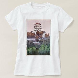 姫路城, Himeji Castle, Hiroshi Yoshida, Woodcut T-Shirt
