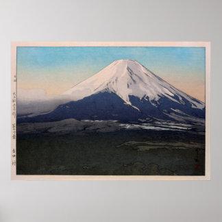 富士十景 吉田村, Ten views of Fuji, Yoshida vil.,Yoshida Poster