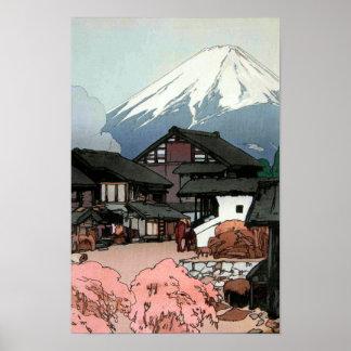 富士十景 船津, Ten views of Fuji, Funatsu, Yoshida Poster