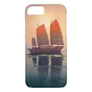 帆船 朝, Sailing Boats Morning, Hiroshi Yoshida iPhone 8/7 Case