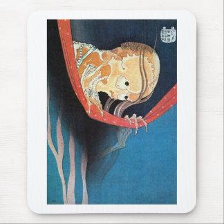 幽霊, 北斎 Ghost, Hokusai, Ukiyoe Mouse Pad
