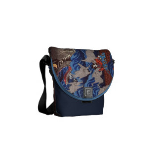 怪物鮫,国芳 Monster Shark, Kuniyoshi, Ukiyo-e Courier Bag