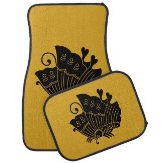 揚 feather butterfly car mat