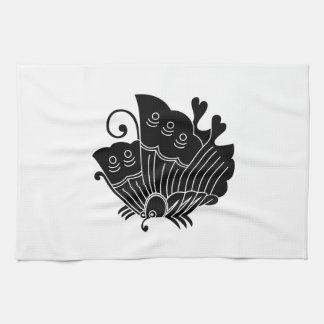 揚 feather butterfly towels