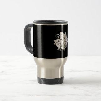 揚 feather butterfly travel mug