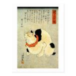 日本猫, 国芳 Japanese Cat, Kuniyoshi, Ukiyo-e Postcards