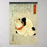 日本猫, 国芳 Japanese Cat, Kuniyoshi, Ukiyo-e Posters