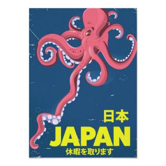 日本 Japan vintage Squid travel poster Card