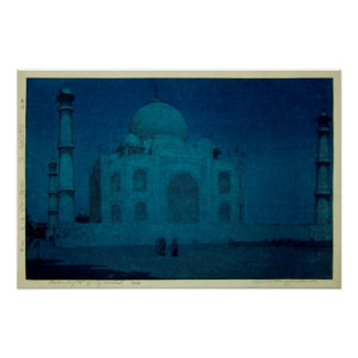 月夜のタージ・マハル, Taj Mahal at moonlit night, Yoshida Poster