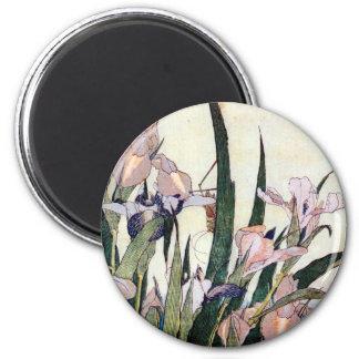 杜若ときりぎりす, 北斎 Iris and Grasshopper, Hokusai Magnet