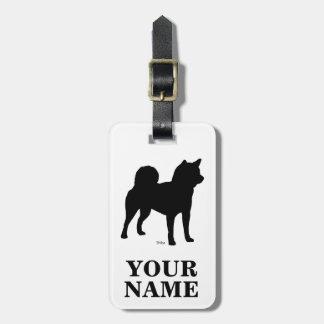 柴 dog (name inserting) luggage tag