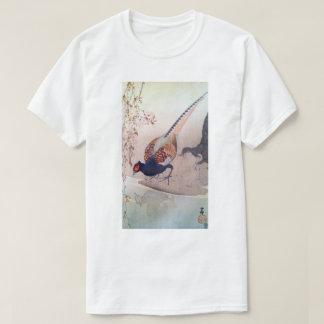 桜にキジ, 古邨 Pheasant and Cherry blossoms, Ohara Koson T-Shirt