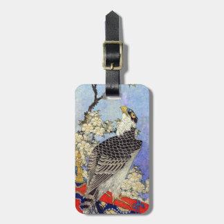 桜にハヤブサ, Falcon & Cherry Blossoms, Hokusai, Ukiyo-e Luggage Tag