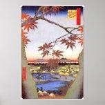江戸の紅葉, 広重 Maple of Edo, Hiroshige, Ukiyo-e