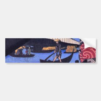 江戸の風景, 広重 Scenery of Edo, Hiroshige Ukiyoe Bumper Sticker