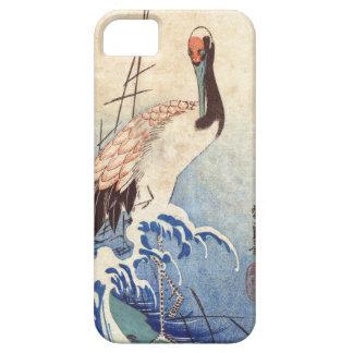 波と鶴, 広重 Crane and Waves, Hiroshige, Ukiyo-e Case For The iPhone 5
