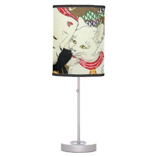 猫が好き, 芳年 I Love Cats, Yoshitoshi, Ukiyo-e Table Lamp
