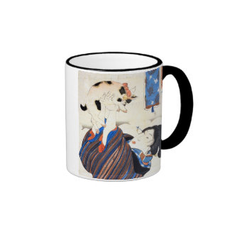 猫と女, 国芳 Cat and Woman, Kuniyoshi, Ukiyo-e Coffee Mugs