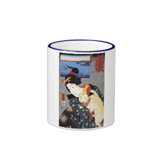 猫と女, 国芳 Cat and Woman, Kuniyoshi, Ukiyoe Coffee Mugs