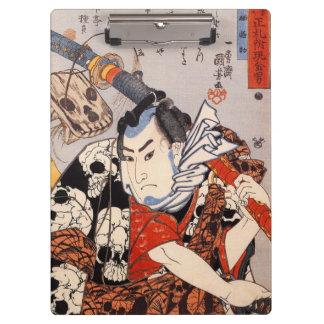 猫の髑髏模様, 国芳 Skull Pattern Made of Cats, Ukiyo-e Clipboard