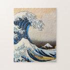 神奈川沖浪裏, 北斎 Great Wave, Hokusai, Ukiyo-e Jigsaw Puzzle